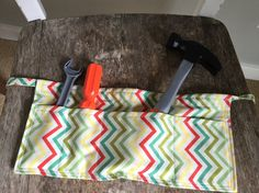 Toddler Tool Belt Chevron Tool Belt Kid's Tool by quiltyobsession