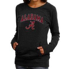 Alabama Crimson Tide Ladies Black Scoop Neck Fleece Sweatshirt