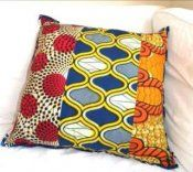 Cotton wax print tri fabric pillow