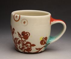 I think this cup by Elizabeth Robinson is just lovely.