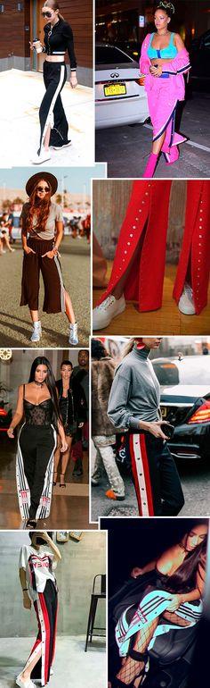 A calça mais cool da temporada. Snap pants é queridinha do street style e das Kardashian.