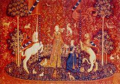 Cross stitch chart: Lady with Unicorn: Sense of Taste