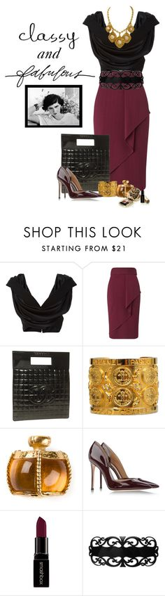 """""""Amici Mei (Polyvore) kate#3"""" by confusgrk ❤ liked on Polyvore featuring Cushnie Et Ochs, Miss Selfridge, Chanel, Yves Saint Laurent, Gianvito Rossi, Dolce&Gabbana, Smashbox, France Luxe, Stella & Dot and AmiciMei"""