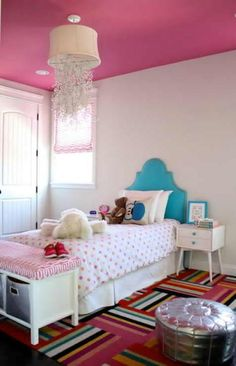 Pink And Turquoise Bedroom For Girls