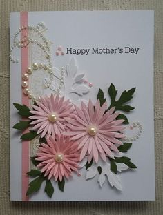 Contagiously Crafty - Heartfelt Creations' Delicate Asters Mother's Day Card Contagiously Crafty - H Handmade Greetings, Greeting Cards Handmade, Cute Cards, Diy Cards, Mother Card, Quilled Creations, Fathers Day Cards, Handmade Birthday Cards, Birthday Cards To Make