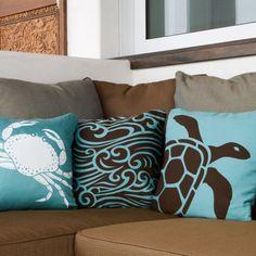 Nautical Pillows, Nautical Home, Teal Pillows, Nautical Design, Throw Pillows, Mermaid Room, Dream Beach Houses, Aqua, Coastal Living Rooms