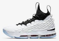 3edb001edefd Nike Lebron XV 15  griffiti  Men s Basketball Shoes Size 10 White Black for  sale online