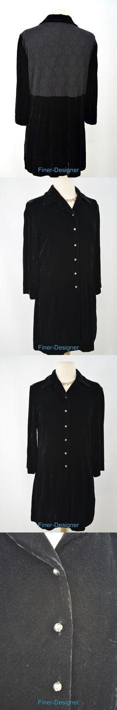 Suits and Blazers 63865: J Jill Black Velvet Stretch Lace Light Jacket Silk Suit Coat Blouse Top S P New -> BUY IT NOW ONLY: $39.95 on eBay!