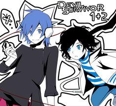 Tags: Anime, Fanart, Pixiv, Shin Megami Tensei: Devil Survivor, Minegishi Kazuya