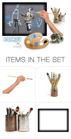 """""""""""Banksy"""" by Misartes"""" by misartes ❤ liked on Polyvore featuring art, artandexpression, banksy and misartes"""
