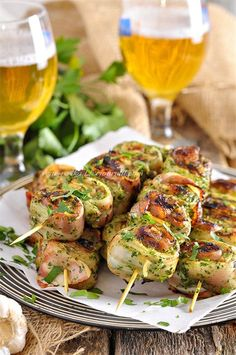 Ingredients: Pork (not fat) - 1 kg. For the marinade: Fresh Cilantro - 50 gr. Russian Dishes, Russian Recipes, Pork Recipes, Chicken Recipes, Borscht Soup, Kebabs On The Grill, Beet Soup, Smoked Brisket, Bbq