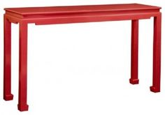 console tables red