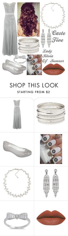 """""""The Selection 3-Silvia"""" by charleymalfoy ❤ liked on Polyvore featuring Adrianna Papell, Retrò, Charlotte Russe, Melissa, Carolee and Kenneth Jay Lane"""