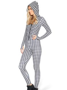 Houndstooth Snuggle Suit - LIMITED (AU $150AUD / US $99USD) by Black Milk Clothing