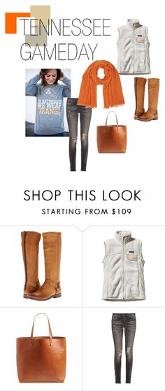 """Tennessee game day outfit"" by julienewman on Polyvore featuring Frye, Patagonia, Madewell, R13 and M&Co"