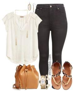 Plus Size Black Jeans Outfit - Alexa Webb Plus Size Fashion For Women, Black Women Fashion, Curvy Fashion, Look Fashion, Fashion Outfits, Womens Fashion, Fashion Weeks, Fall Fashion, Fashion Tips