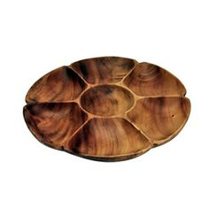 """Veggies and Dip? Flower Tray w/7Sections, 14"""" x 14"""" x 1.5"""""""