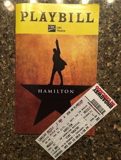 [DISCOUNT] $4.0 Hamilton Playbill & Original Ticket! Last One!!! Chicago May 2018 CIBC Theatre #Theater_Posters_for_Sale #Movie_Posters_for_Sale #Theatre_Memorabilia_for_Sale Movie Posters For Sale, Ticket, Theater, Musicals, Chicago, The Originals, Theatre, Teatro