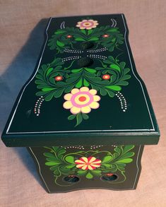 Painted Stools, Decorative Boxes, Lunch Box, Home Decor, Decoration Home, Room Decor, Bento Box, Home Interior Design, Decorative Storage Boxes