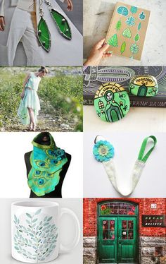 Shades of green by Roberta on Etsy--Pinned with TreasuryPin.com