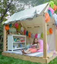 Outdoor for Kids diy | DIY Outdoor Reading Nook For Kids | Kidsomania....instead of a tree house perhaps?