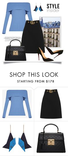 """""""Moodboard #33"""" by isobel-m ❤ liked on Polyvore featuring BCBGMAXAZRIA, Gucci, STELLA McCARTNEY and Christian Louboutin"""
