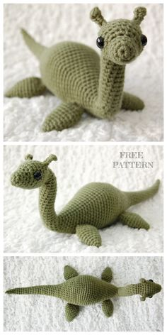 Crochet Nessie Monster Anigurumi Free Patterns