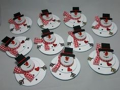 Tealight snowmen by KLW