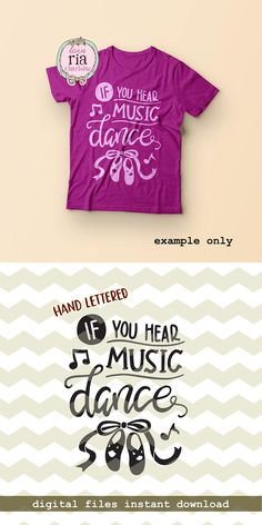 If you hear music dance, ballet shoes dancer ballerina ribbon digital cut files, SVG, DXF, studio3 for cricut, silhouette cameo, diy decals by LoveRiaCharlotte on Etsy