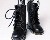 $33 Black Dr. Martens Style Boots for YO-SD, LittleFee, Petite Ai, Ange Ai, Ciao Bella S00042B