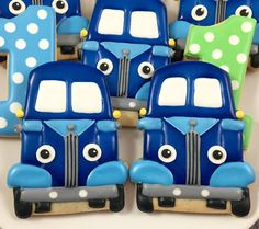 Little Blue Truck Cookies by Whoosbakery on Etsy