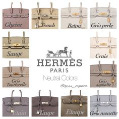 e are some standard Hermes colors and how it looks on the Birkin. I've taken these pictures from various sources and complied them for easy reference. Sac Birkin Hermes, Hermes Bags, Hermes Handbags, Black Handbags, Purses And Handbags, Cheap Handbags, Cheap Purses, Popular Handbags, Cheap Bags