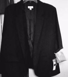 JACKET BLAZER BLACK 22W NEW STRIPED LINED SLEEVES MERONA FAUX POLY,RAYON,SPANDEX #MERONA #BLAZERJacket #ALLOCCASION