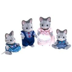 Calico Critters Fisher Cat Family- for Jules, for my dollhouse. Lots of fun furniture too.