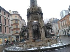 The Fountain of the Elephants in Chambery, France