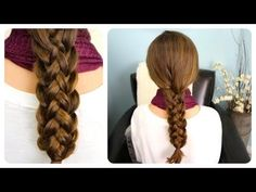 Cute Hairstyles Step-by-step Hairstyles for Long Hair How to Do Cute Stacked Braids Hairstyles for Long Hair Diy Tutorial Braided Hairstyles Tutorials, Diy Hairstyles, Hair Tutorials, Hairstyle Ideas, Sweet Hairstyles, Latest Hairstyles, Side Braid Ponytail, Knotted Ponytail, Braid Hair