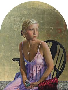Fred Wessel, a great Master of today, knows the technique (egg tempera) and composition (see the reference to the Golden Ratio here): Giana (Fibonacci revisited), tempera with gold leaf. Potrait Painting, Portrait Art, Painting & Drawing, Fra Angelico, Georgia, Philadelphia Museum Of Art, Guache, Museum Of Modern Art, Figure Painting