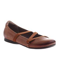 Look at this #zulilyfind! Cashew Ardmore Leather Flat by OTBT #zulilyfinds