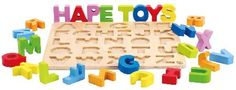 Hape Alphabet Puzzle Sturdy stand-alone letters let kids practice their abcs as well as form simple words. recommended ages: 3 - 5 years... (Barcode EAN=6943478005457) http://www.MightGet.com/january-2017-12/hape-alphabet-puzzle.asp