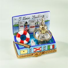 Limoges I Love Sailing Box The Cottage Shop