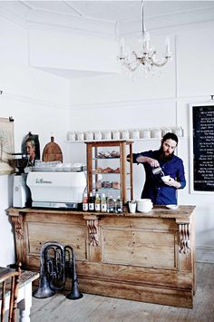 Beautiful timber counter at Poet's Ode (shop + tea room) in Hahndorf, South…