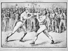 The memorable defeat of Tom Sayers by Nat Langham, October, 1853 at Lakenheath, Suffolk by English School Mendoza, Boxers, Toms, 18th, How To Memorize Things, October, English, School, Boxer