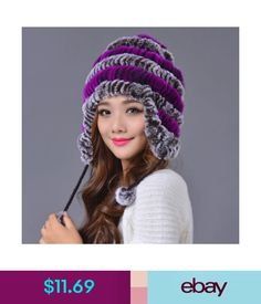 a7c638eb65117  11.69 - Real Rex Rabbit Fur Trapper Hat Women Winter Ear Protector Cap  Outdoor Ski Hat