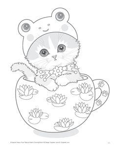 Teacup Kittens Coloring Book (Design Originals): Kayomi Harai: 9781497202269: AmazonSmile: Books