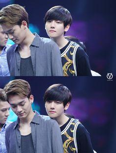chen and super cute baekhyun... and sehun