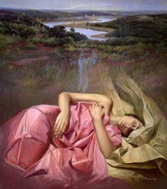 La chica dormida surealismo de Soledad Fernandez