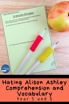 Hating Alison Ashley Comprehension and Vocabulary Comprehension Activities, Comprehension Questions, Teaching Activities, Teaching Strategies, Reading Comprehension, Teaching Ideas, Language Study, Language Arts, Maths Investigations