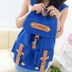 Canvas Buckled Backpack from #YesStyle <3 QeQ YesStyle.com