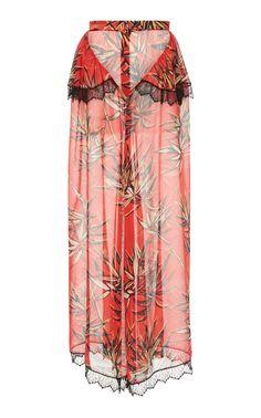 Floral Printed Silk Satin Cropped Blouse Rodarte Official Cheap Price izobf
