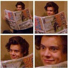 Harry Styles Fotos, Harry Styles Face, Harry Styles Memes, Harry Edward Styles, Memes One Direction, Four One Direction, One Direction Pictures, Louis Tomlinson Tumblr, Niall E Harry